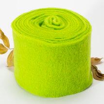 Lehner Wolle 15cmx1m Yeşil Yün Kumaş Keçe - T15-GU33