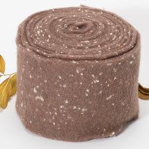 Lehner Wolle 15cmx1m Kahverengi Yün Kumaş Keçe - C15-BR35