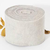 Lehner Wolle 15cmx1m Gri Yün Kumaş Keçe - K15-WE04