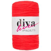 Diva Spaghetti Turuncu Penye Kumaş El Örgü İpi