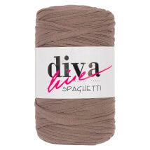 Diva Spaghetti Bej Penye Kumaş El Örgü İpi