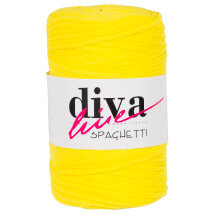 Diva Spaghetti Sarı Penye Kumaş El Örgü İpi