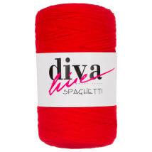 Diva Spaghetti Kırmızı Penye Kumaş El Örgü İpi