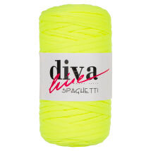 Diva Spaghetti Yeşil Penye Kumaş El Örgü İpi