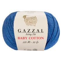 Gazzal Baby Cotton Mavi Bebek Yünü - 3431