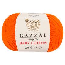 Gazzal Baby Cotton Turuncu Bebek Yünü - 3419