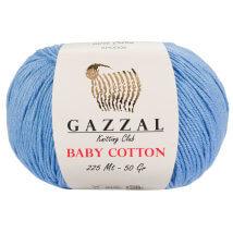 Gazzal Baby Cotton Açık Mavi Bebek Yünü - 3423