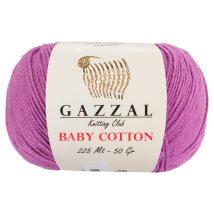 Gazzal Baby Cotton Lila Bebek Yünü - 3414