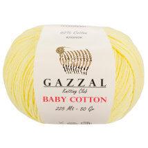 Gazzal Baby Cotton Sarı Bebek Yünü - 3413