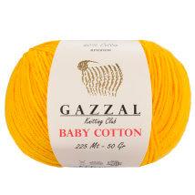 Gazzal Baby Cotton Hardal Sarısı Bebek Yünü - 3417