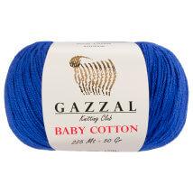 Gazzal Baby Cotton Mavi Bebek Yünü - 3421