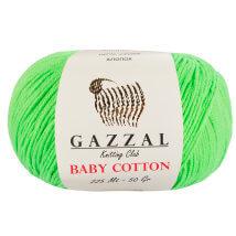Gazzal Baby Cotton Açık Yeşil Bebek Yünü - 3427