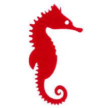 La Mia 10'lu Kırmızı Denizatı Keçe Figür - M13
