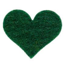La Mia 2.5x2.3 cm 25'li Zümrüt Yeşil Orta Boy Kalp Keçe Motifler - FS308-M58
