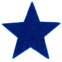 La Mia 6x6 cm 25'li Saks Mavi Yıldız Keçe Motifler - FS304-M47