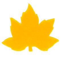 La Mia 3.5x5.5 cm 25'li Sarı Çınar Yaprak Keçe Motifler - YS352-M09