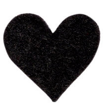 La Mia 1.8x1.5 cm 25'li Siyah Küçük Boy Kalp Keçe Motifler - FS307-M01