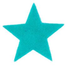 La Mia 6x6 cm 25'li Turkuaz Yeşil Yıldız Keçe Motifler - FS304-M44