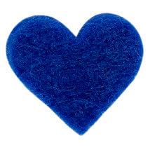 La Mia 1.8x1.5 cm 25'li Saks Mavi Küçük Boy Kalp Keçe Motifler - FS307-M47