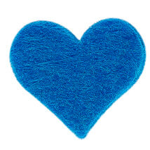 La Mia 1.8x1.5 cm 25'li Çivit Mavi Küçük Boy Kalp Keçe Motifler - FS307-M46