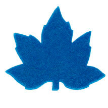 La Mia 3.5x5.5 cm 25'li Çivit Mavi Çınar Yaprak Keçe Motifler - YS352-M46