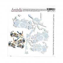 Artebella 16, Antique Gold 5 x 17, Antique Gold 5 cm Boyutunda Koyu Zemin İçin Kolay Kumaş Transfer