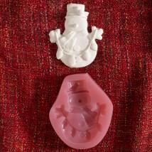 Hobium Yılbaşı Renkli Kardan Adam Şeklinde Mum Sabun Kokulu Taş Kalıbı - N&B00899