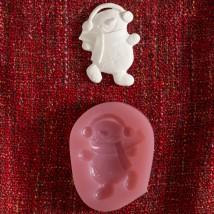 Hobium Yılbaşı Kardan Adam Şeklinde Mum Sabun Kokulu Taş Kalıbı - N&B00872
