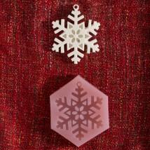 Hobium Yılbaşı Kar Tanesi Şeklinde Mum Sabun Kokulu Taş Kalıbı - N&B00895