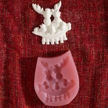 Hobium Yılbaşı Geyik Ailesi Şeklinde Mum Sabun Kokulu Taş Kalıbı - N&B00827