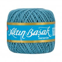 Altınbaşak 14/8 Cotton Thread Ball,  Mavi Kroşe Yumak - 0186 - 48