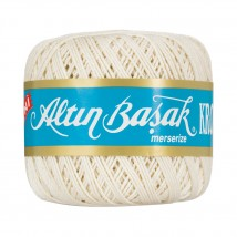 Altınbaşak 14/8 Cotton Thread Ball,  Ekru Kroşe Yumak - EKRU - 48