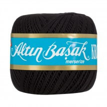 Altınbaşak 14/8 Cotton Thread Ball,  Siyah Kroşe Yumak - Siyah - 48