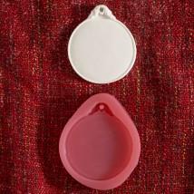 Hobium Yuvarlak Plaka Şeklinde Mum Sabun Kokulu Taş Kalıbı - N&B01066