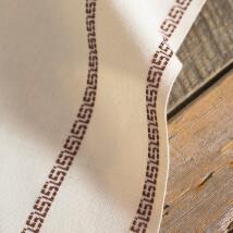 Domino Antik Sonsuz Kahve Bordürlü Nakış Kumaşı - DKAB09