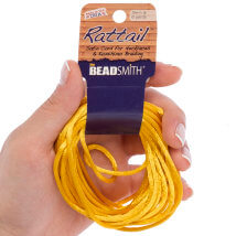 Bead Smith 3mm 5.48m Altın Saten Kordon İp - Rtgo2-R