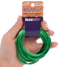 Bead Smith 3mm 5.48m Zümrüt Yeşili Saten Kordon İp - Rtem2-R