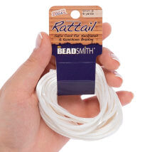 Bead Smith 3mm 5.48m Beyaz Saten Kordon İp - Rtwb1-R