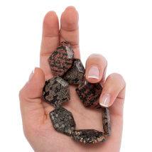 Dakota Stones Kırmızı Altıgen Meksika Yeşim Doğal Taş- Mrshex-F-8