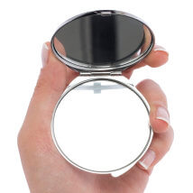 Hobium 50mm Gümüş Kaplama Kapaklı Yuvarlak Ayna - Abm01S