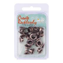 Create Recklessly 7.62X2.54cm 24 Adet Antik Gümüş Deri Çıtçıtı - Cr905As-R