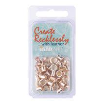 Create Recklessly 3/16 36 Adet Gümüş Rengi Deri Çıtçıtı - Cr918Sp-R