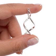 Pinchable Elements 32mm 1 Adet Gümüş Kaplama Burgu Takı Aksesuarı
