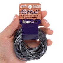 Bead Smith 3mm 5.48m Gri Saten Kordon İp - Rtdgy2-R