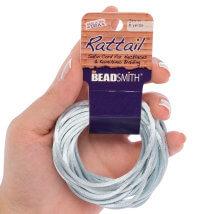 Bead Smith 3mm 5.48m Gümüş Rengi Saten Kordon İp - Rtsı2-R