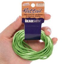 Bead Smith 3mm 5.48m Yeşil Saten Kordon İp - Rtag2-R