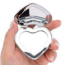 Bead Smith Gümüş Kaplama Kalp Kapaklı Ayna - Abm03S