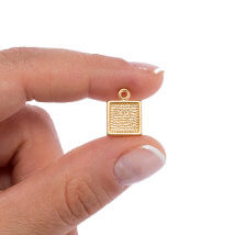 Hobium 10.5 X2 Altın Kaplama Kare Kolye Ucu - Dcr28Gp
