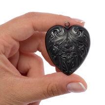 Vintaj 42x36mm 1 Adet Kalp Şeklinde Kolye Ucu