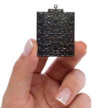 Vintaj 44.5X32.5mm 1 Adet Etrüsk Antik Taş Kolye Ucu